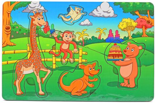 Рамка-вкладыш Wood Toys День рождения в лесу
