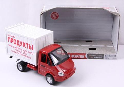 Фургон Play Smart Газель Продукты инерционный со светом и звуком 24 см Р40514