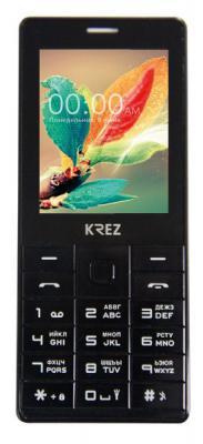 """Мобильный телефон KREZ PL202B DUO черный 2.4"""""""