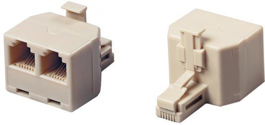 Разветвитель с 6p4c на два USOC Hyperline DA-6P4C