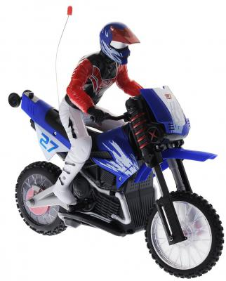 Мотоцикл на радиоуправлении 1TOY Gyro-Moto пластик от 8 лет синий Т54487