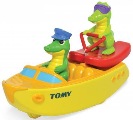 Игрушка для купания для ванны TOMY Крокодил на водных лыжах игрушки для ванны tomy игрушка для купания черепашка