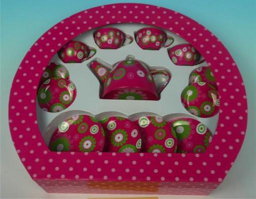 1toy Я сама игр.чайн.сервиз,14 пред.,2в.,олово,круглая кор.с окном Т58758 игрушечная посуда 1toy игровой чайный сервиз я сама 1toy