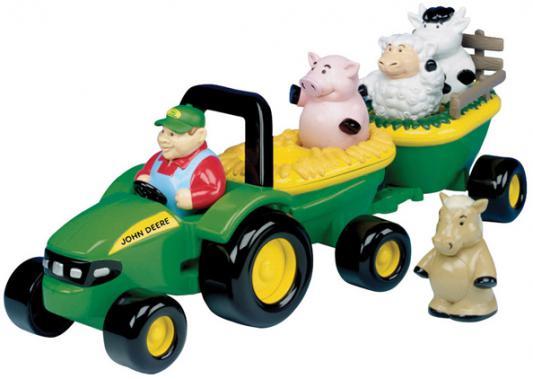 Набор Tomy трактор John Deere с животными разноцветный