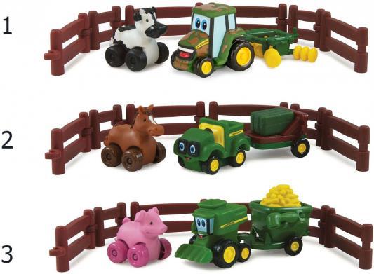 Игровой набор Tomy Johnny Tractor and Friends - Приключения на ферме ассортимент ТО37722АМ6 игровые наборы tomy britains big farm фермерский прицеп со свинками