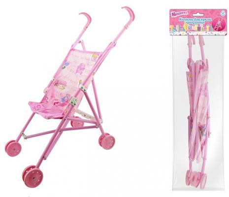 Коляска для кукол 1Toy Т58755 1toy транспорт для кукол коляска цвет синий