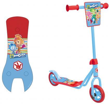 Самокат 1TOY Фиксики голубой 8887856584111, Трехколесные самокаты для детей  - купить со скидкой