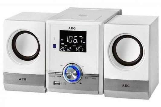Микросистема AEG MC 4461 BT белый радиоприемник aeg mr 4139 bt черный