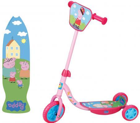 Купить Самокат 1TOY Peppa 6 /4 розовый Т57644, Трехколесные самокаты для детей