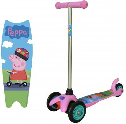 Самокат 1TOY Peppa, управляется наклоном розовый 8887856576178