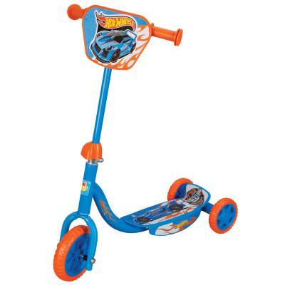 Купить Самокат 1TOY Hot Wheels с декоративной панелью голубой, Трехколесные самокаты для детей