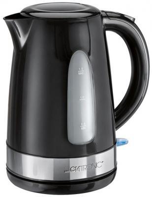 Чайник Clatronic WKS 3576 2200 Вт чёрный серебристый 1.5 л металл/пластик
