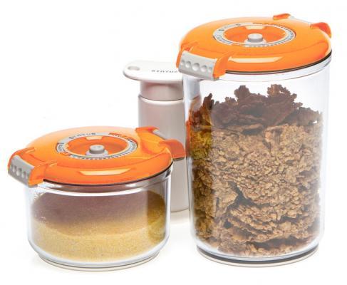 Набор контейнеров для вакуумного упаковщика Status VAC-RD-Round оранжевый