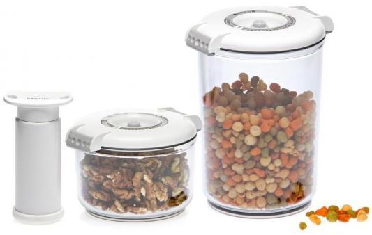 Набор контейнеров для вакуумного упаковщика Status VAC-RD-Round белый набор контейнеров для вакуумирования status vac rd round white