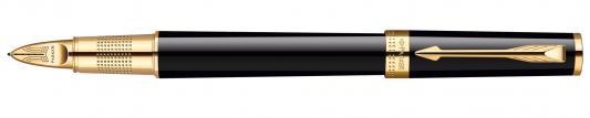 Ручка 5й пишущий узел Parker Ingenuity L F500 LaqBlack GT Fblack чернила черные S0959160
