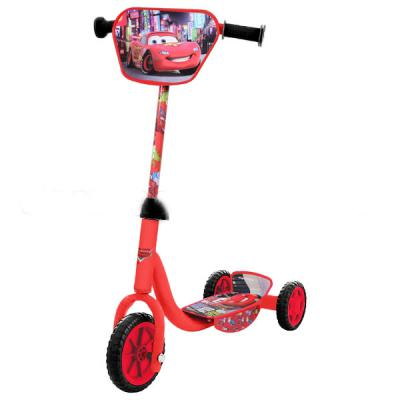 Купить Самокат 1TOY Тачки красный, DISNEY, Трехколесные самокаты для детей