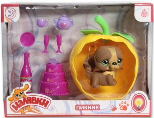 Игровой набор 1 Toy Малявки пикник с кроваткой-яблоком и питомец Т56933