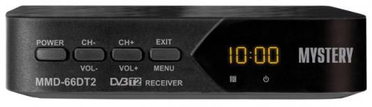 Тюнер цифровой DVB-T2 MYSTERY MMP-66DT2 черный
