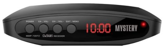 Тюнер цифровой DVB-T2 MYSTERY MMP-72DT2 черный d color dc700hd dvb t2 цифровой тв тюнер