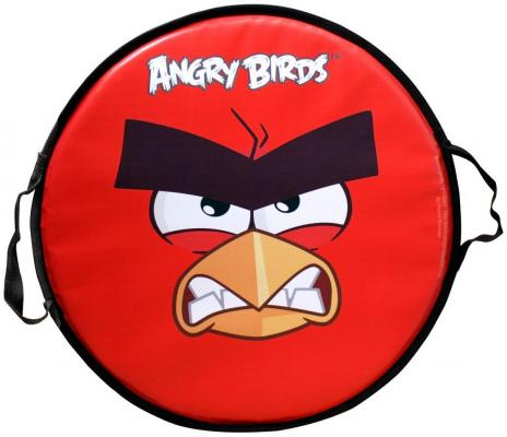 Ледянка 1toy Angry birds круглая до 100 кг красный ПВХ Т58162