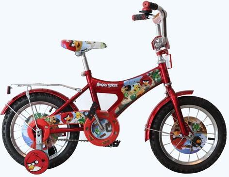 """Велосипед Навигатор Angry Birds 14"""" красный BH14061"""