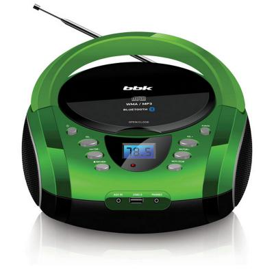 Магнитола BBK BX165BT черный зеленый