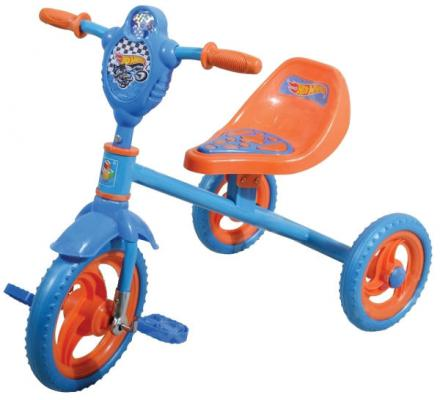 "Велосипед 1TOY HOT WHEELS 10""/8"" голубой Т57585"
