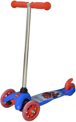 Купить Самокат 1TOY Disney Человек-Паук синий Т58417, Трехколесные самокаты для детей