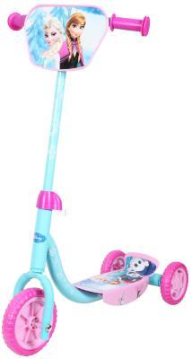 Купить Самокат 1TOY Disney Холодное Сердце розовый Т58465, Трехколесные самокаты для детей