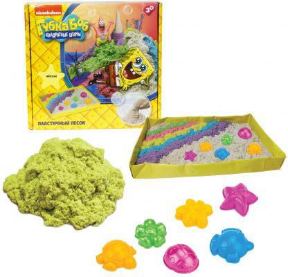 1toy Губка Боб, космический песок, жёлтый, 1 кг, набор песочница и формочки Т58202