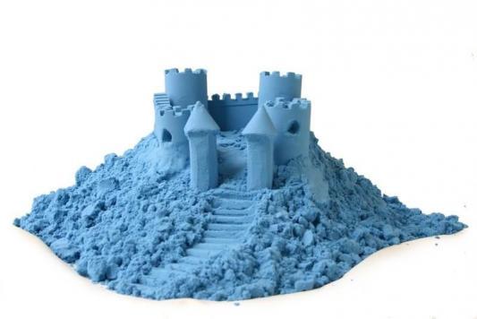 Космический песок Песочница+Формочки Голубой 3 кг(коробка) Т58581