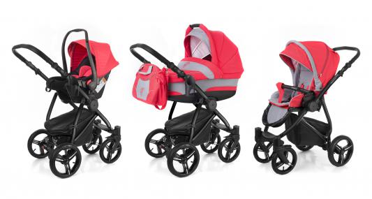 Коляска 3-в-1 Esspero Newborn Lux (шасси black/red grey)