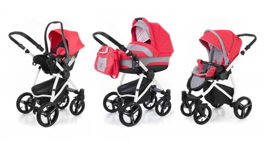Коляска 3-в-1 Esspero Newborn Lux (шасси white/red grey)
