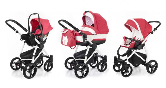 Коляска 3-в-1 Esspero Newborn Lux (шасси white/red lux)