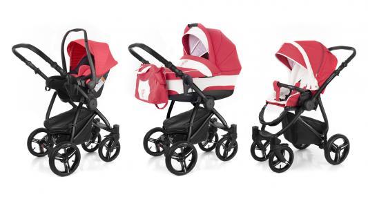 Коляска 3-в-1 Esspero Newborn Lux (шасси black/red lux)