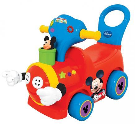 Каталка-пушкар Kiddieland Поезд с Микки Маусом красный от 18 месяцев пластик 043901 kiddieland каталка пушкар микки маус