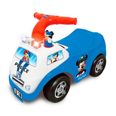 Каталка-пушкар Kiddieland Полицейская машина Микки Мауса синий от 1 года пластик каталка пушкар kiddieland щенячий патруль kid 054221 пластик от 1 года музыкальная красный