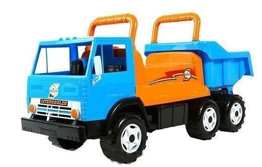 Каталка-самосвал R-Toys Intercooler с кузовом, 6 колёс синий от 10 месяцев пластик ОР412