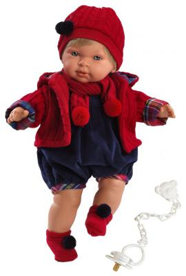 Кукла Llorens Мигуэль 42 см мягкая говорящая плачущая 8426265421176