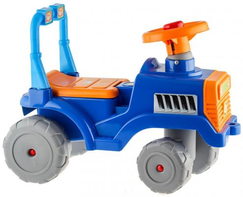 Каталка-трактор R-Toys ОР931 синий от 1 года пластик