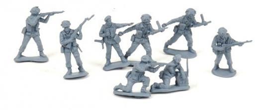 """Набор фигурок Биплант Солдатики """"Британские парашютисты"""" 6.5 см 12020"""
