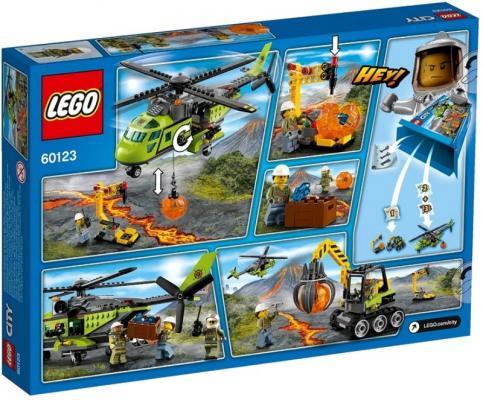 Конструктор Lego City Грузовой вертолёт - Исследователей вулканов 330 элементов 60123