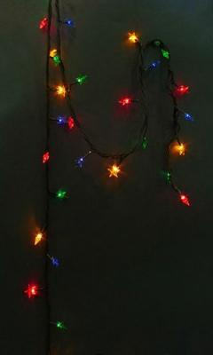 """Гирлянда эл. Звездочки, 100 мини-ламп """"рис"""", цветное свечение, 8 реж., зеленый провод  971240"""