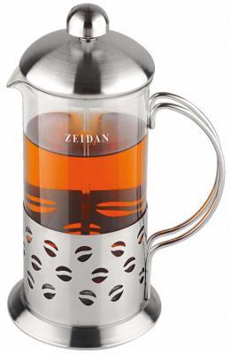 Френч-пресс Zeidan Z-4075 прозрачный серебристый 0.6 л нержавеющая сталь