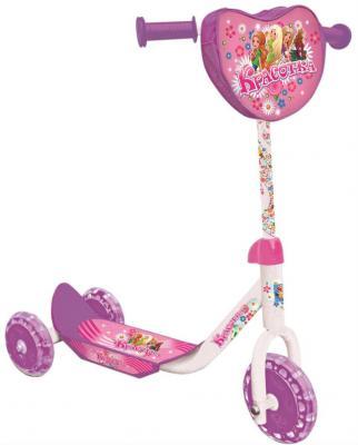 Купить Самокат 1TOY Красотка 6 /5 фиолетовый Т53991, Трехколесные самокаты для детей