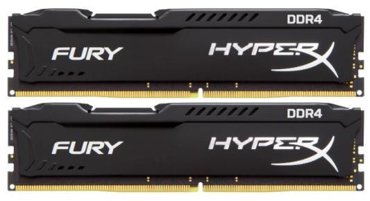 Оперативная память 8Gb (2x4Gb) 2666MHz DDR4 DIMM CL15 Kingston HX426C15FBK2/8 оперативная память kingston kvr24r17s4 16