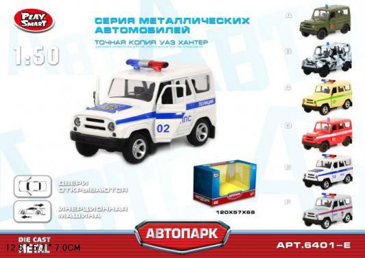 Инерционная металлическая  машинка Play Smart Полиция   Р41129