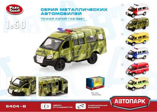 Интерактивная игрушка Play Smart Автопарк-Военная машина — хаки Р41122 play smart военная арт 6403e