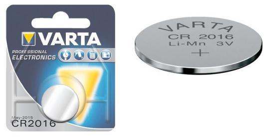 Батарейка Varta Electronics CR2016 1 шт батарейка varta max tech с блистер 2шт