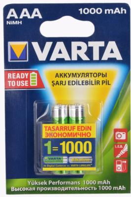 Аккумулятор Varta R2U 1000 мАч AAA 2 шт varta аккумулятор agm ytx9 bs